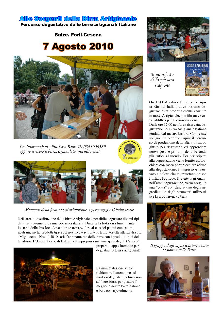 Volantino festa 2010